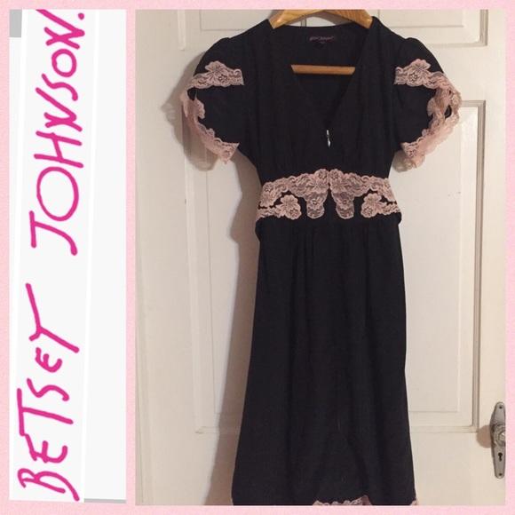 NWOT Betsey Johnson Silk   Lace Dress. Sz 4 ef4786483